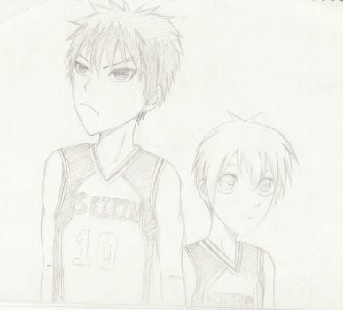 Kuroko and Kagami: Before their growth spurts by KyKiki