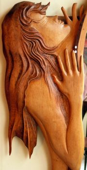 Untitled 9a Relief Wood by ayhantomak