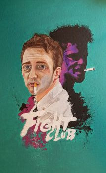 Fight Club Inspired Painting by aperfectmjk
