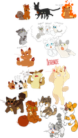 warrior cats doodles by Nifty-senpai