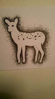 Deer Scrumbling by Angela-Is-A-Mess