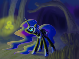 Nightmare Moon coloured by NasseSeta
