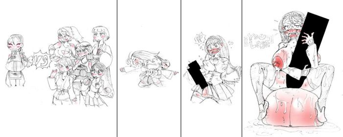 Defeat of girl fighters 01 by metamorgirl