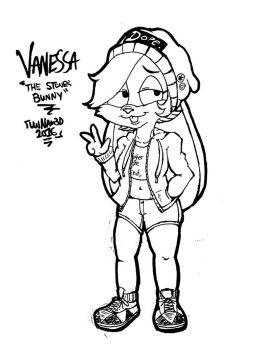 Vanessa the Stoner Bunny concept by ShadowLord97