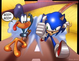 The Fast And The Looney by MightyGoodrum