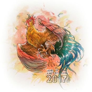 Year of the rooster 2017 by LeaderBrat