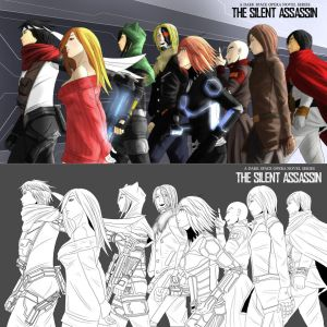 The Silent Assassin Main Characters Lineup by the-silentassassinAP