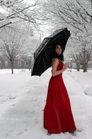 Snow and Red Dress by ninecrows-stock