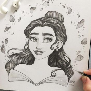 Belle - Sketch  by TheLittleArtyThing