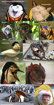 Dragon Age II Laughing Animals by DelicateRosebud