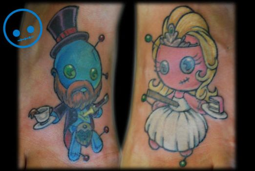 Bride and Groom Voodoo Dolls by Omedon