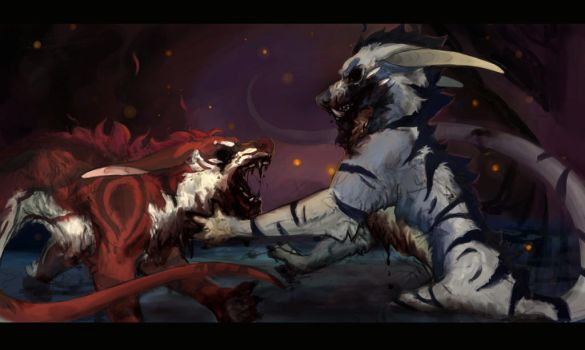 Blood in the Water by Felix-Vulpes