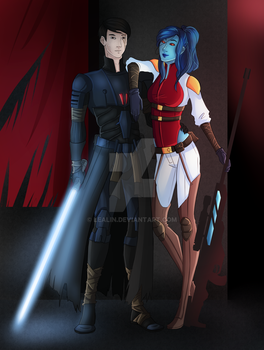SWTOR COMMISSION - Mitras and Archid by lealin