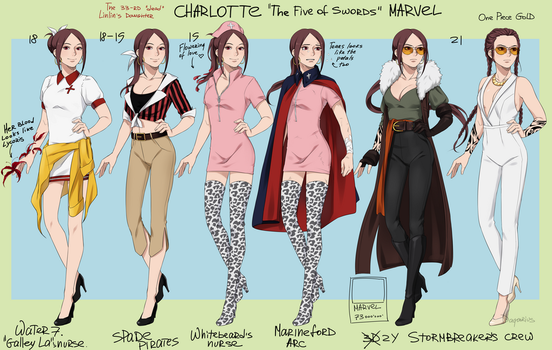 One piece OC. Marvel reference sheet by soldagarius