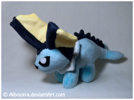 Vaporeon Mini-Minky Plush by Allyson-x