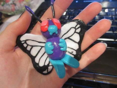 Giant Butterfree Charm by Brennie-Chan