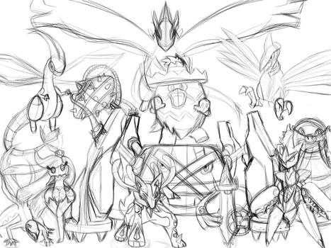 Favorite pokemon desktop background sketch teaser by DragonLoreStudios