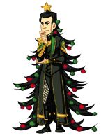 Christmas Loki by dances-with-hipsters
