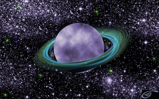 Planet with rings by tudorman