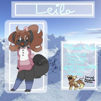 Leila  ( Official Fursona ref) by TsDraw33