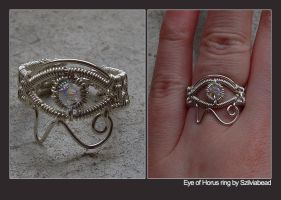 Eye of Horus ring by bodaszilvia
