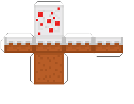 Print Out Cake (minecraft) by homestucklover14