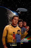 Star Trek - Omnibus Cover by sharpbrothers