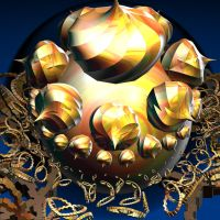 golden ball with swirl roundings by Andrea1981G