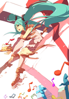 A Gift for our Dear Miku by wickedalucard
