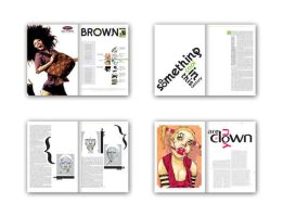 Brown magazine spreads 2 by or5