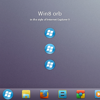 Win8 orb for Windows 7 by ap-graphik