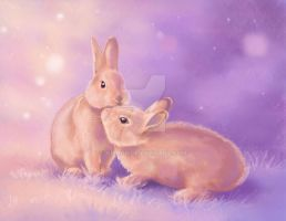 Valentine Bunnies 2014 by nienor