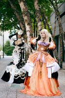 Wizard and Elementalist by UxiCosplay