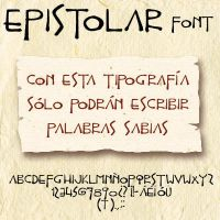 Epistolar font by Masklin8