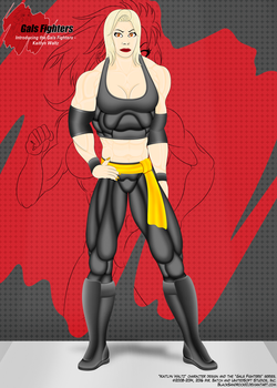 Introducing the Gals Fighters No.11 - Kaitlyn by BlackSandrock10