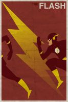 The Flash - Vintage Poster by drawsgood
