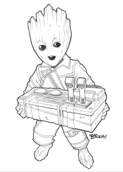 Cartooning Baby Groot Screaming Drawings Www Picturesso Com