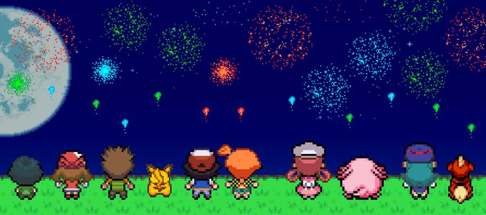Watching the Fireworks by BeeWinter55