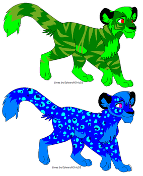 Earth Tiger   and Water Leopard  adoptables by Butterfly-TF