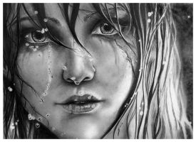 Lady of the Lake - Ciri - Pencil Portrait by Jooleya