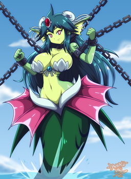 Commission: Giga Mermaid by DANMAKUMAN