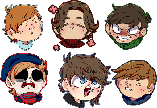 Eddsworld-faces by LaurePhonsekalL
