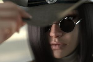 Gina cowgirl close up by FranPHolland