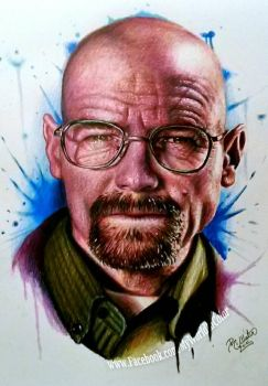 Walter White Portrait by MyWorldInColor