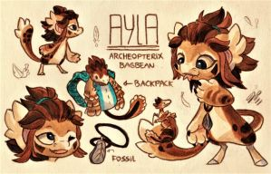 Ayla Ref. Sheet [Commission] by Baraayas