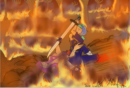 Forest fire fight by LT-Minufius