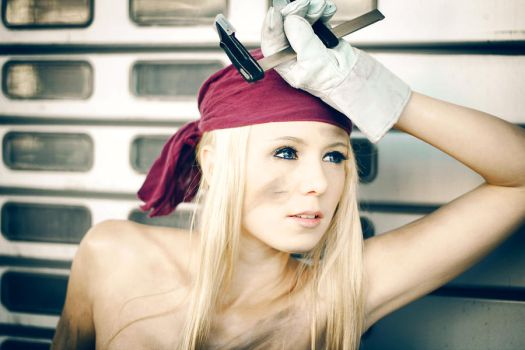 FMA - Winry: Exhausted by Evil-Uke-Sora