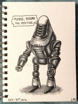Inktober 2016: Fisto by Red-Flare