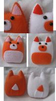 Foxy Plush Keychains by P-isfor-Plushes