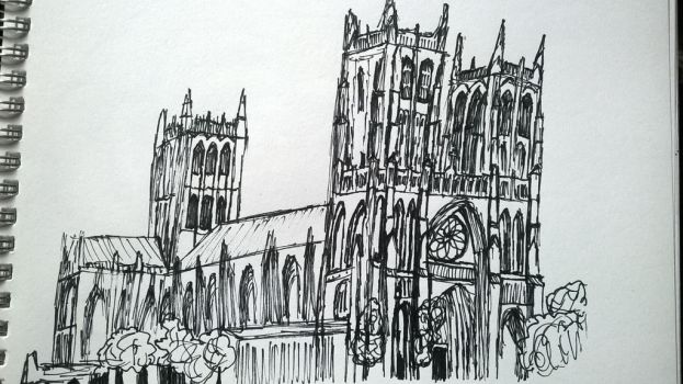 Cathedral Drawing by hannahmo61